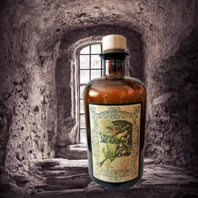 Alchemisten Flasche Witches Brew mit Eule