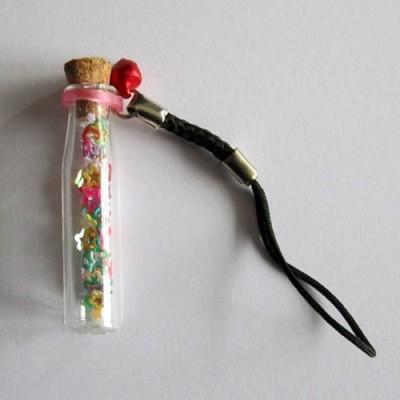 Kleine Elixierflasche Zylinder mit Korken 5er Pack