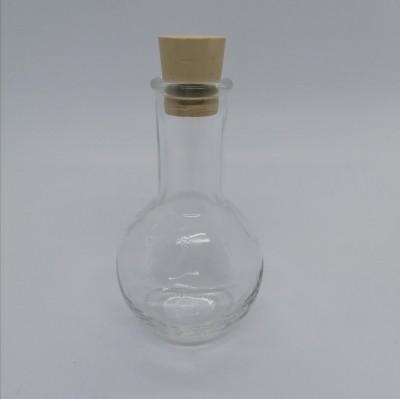 Elixierflasche rund 100 ml mit Korken