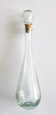 Handmade elixir bottle teardrop antique 100 ml with cork