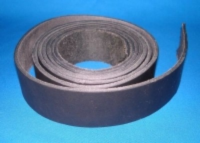 Leather belt about 2 m, black