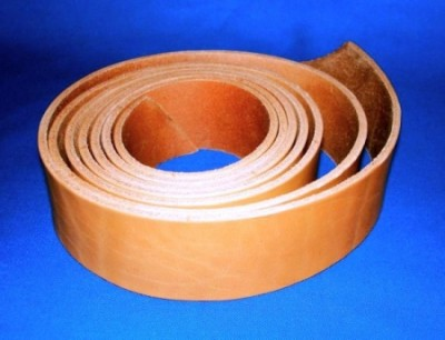 Leather belt about 2 m, brown