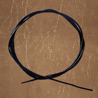 Corda in pelle di Capra, 1 m. Nero.
