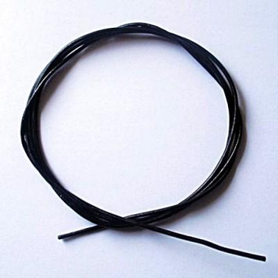 Lederband aus Ziegenleder 1m, schwarz 1 Stück