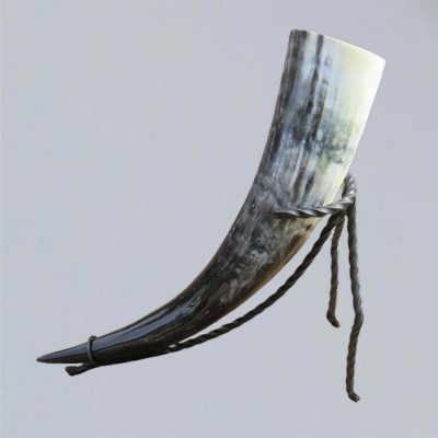 Drinking horn holder made of wrought iron