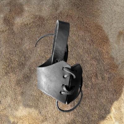 Trinkhornhalter aus Leder