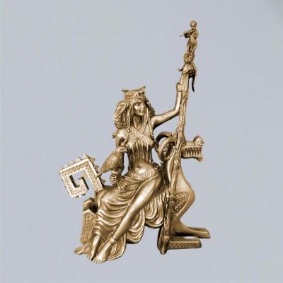 Frigg Frigga figure of polyresin bronzed