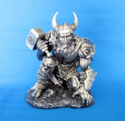 Thor/Donar God of thunder figure of polyresin