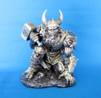 Thor/Donar dieu du tonnerre figure en polyrésine