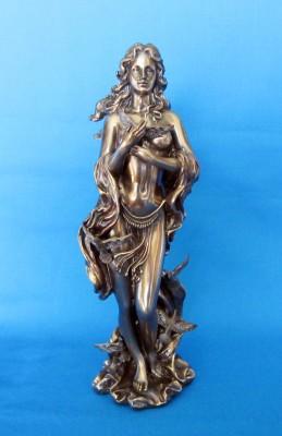 Dea dell'Amore Afrodite, Freya, Venere, Oshun Figura in poliresina bronzata