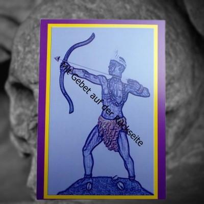 Voodoo Orisha Carta di preghiera Ochosi