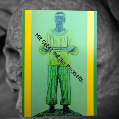 Voodoo Orisha Prayer Card Orunla
