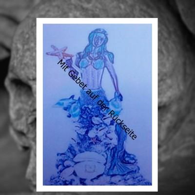 Voodoo Orisha Prayer Card Yemaya