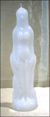 Figure Candles for Magickal Purposes - Woman white