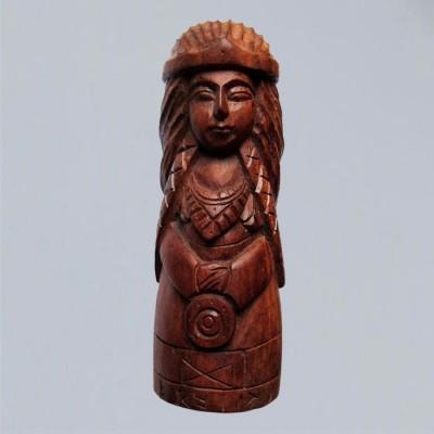 Frigga figure made of wood