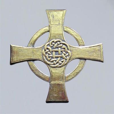 Keltisches Kreuz, geschnitzt, groß