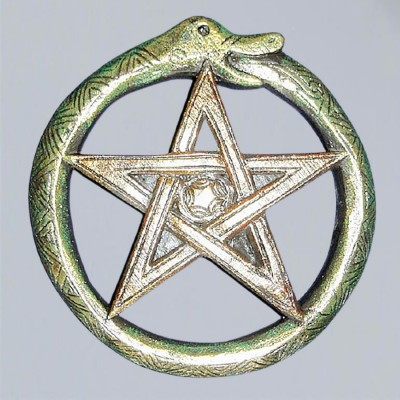 Relief Serpent-pentagramme