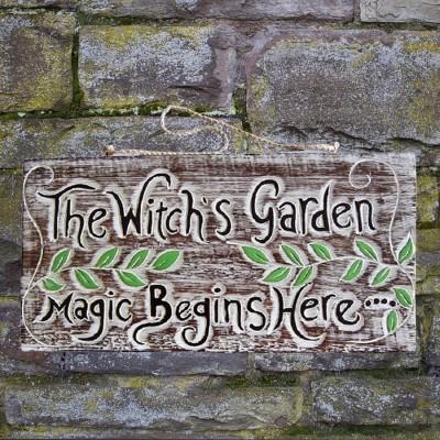 Schild Witches Garden
