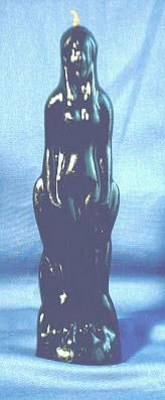 Figure Candles for Magickal Purposes - Woman black