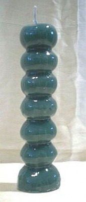 Figure Candles for Magickal Purposes - 7 Knob Candle green