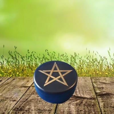 Scatola pietra saponaria, nera con pentagramma