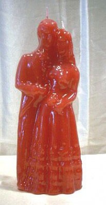 Figure Candles for Magickal Purposes - Big Marriage Candle red