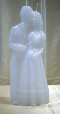 Figure Candles for Magickal Purposes - Big Marriage Candle white