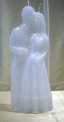 Figurenkerzen für magische Zwecke - Große Hochzeitskerze weiß