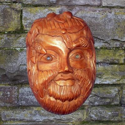 Rilievo di muro mascherare Green Man
