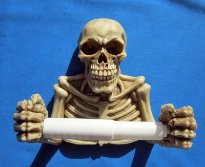 Totenkopf Toilettenpapierhalter