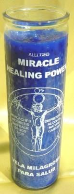 Bougies des 7 jours en verre - Healing (Guérison)