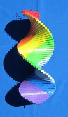 Rainbow spiral Wind Chime, big