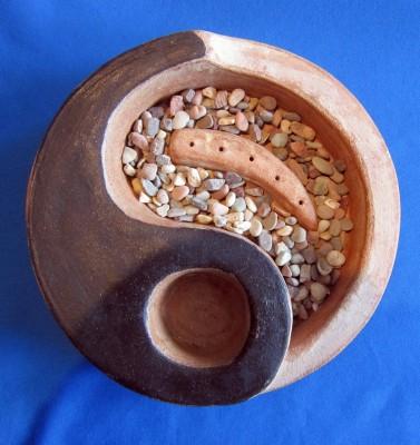 Räucherstäbchenhalter Yin-Yang