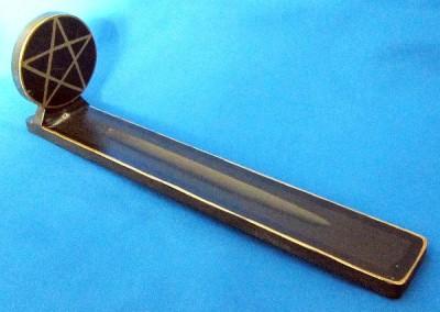 Incense Stick Holder Ski Shaped Pentagram