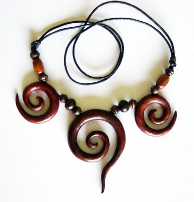 Necklace Spirals, triple