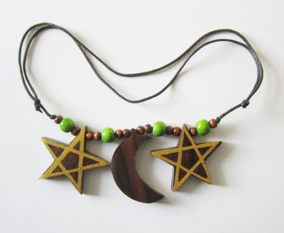 Necklace Pentagram - Moon