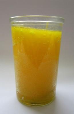 Candela in vetro elemento aria, giallo
