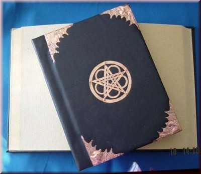 Book of Shadows, Synthetic Leather and Copper fittings, Bat