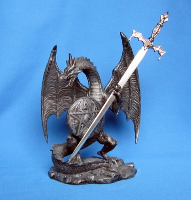Dragon with letter opener