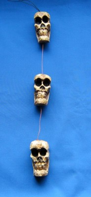 Skull Set of 3, Halloween deco