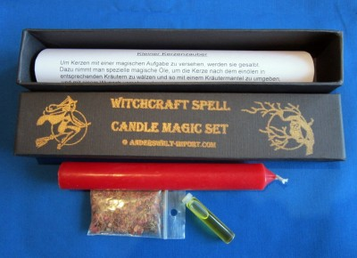 Witchcraft banish spell candle