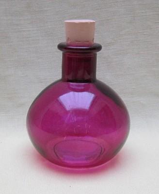 Elixierflasche Kugel violett mit Korken 100 ml