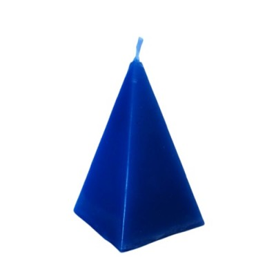 Bougie en forme de pyramide, bleu, Fast Luck