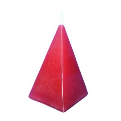 Bougie en forme de pyramide, rouge, pour attirer l'amour