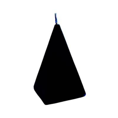 Bougie en forme de pyramide, noir, Protection