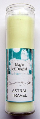 Magic of Brighid Glass Candle Astral Travel