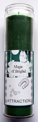 Magic of Brighid Glass Candle Attraction