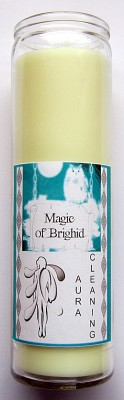 Magic of Brighid Glass Candle Aura Cleaning