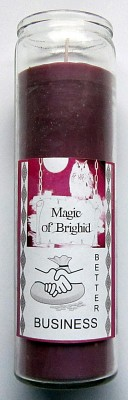 Magic of Brighid Glass Candle Better Business