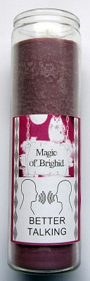 Magic of Brighid Glass Candle Better Talking